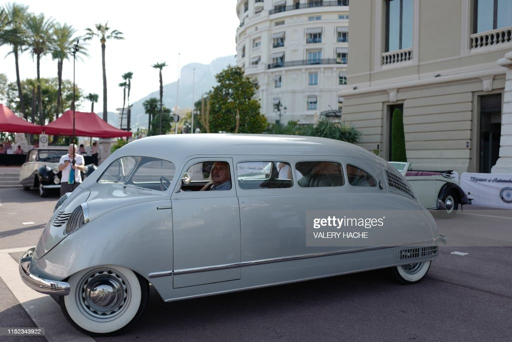 A Stout Scarab 1936 is parked during the