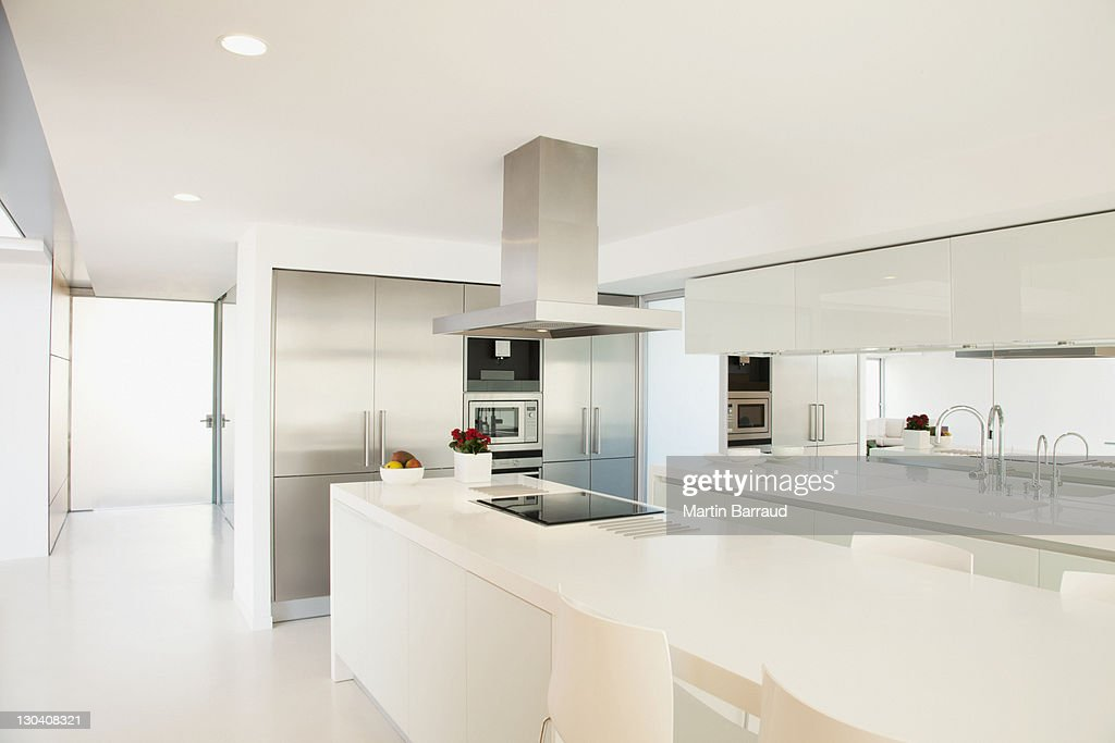 Stove and counters in modern kitchen : Stock Photo