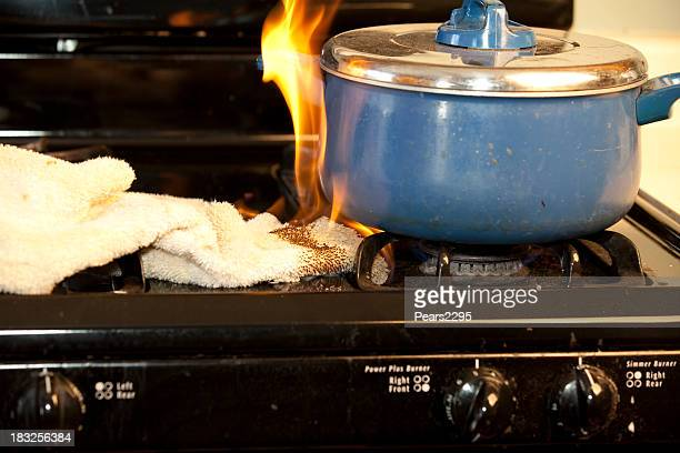 stove fire - miss pears stock pictures, royalty-free photos & images
