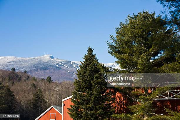 stowe in the distance - vermont stock pictures, royalty-free photos & images
