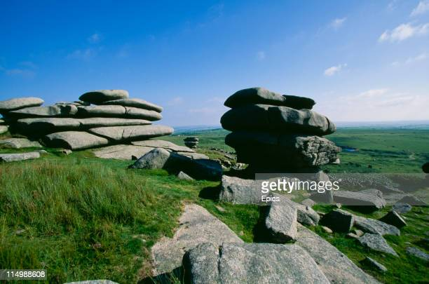 Stowe's Pound a hill fort near Minions on Bodmin Moor Cornwall July 1997