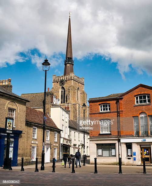 Stowmarket church and town centre