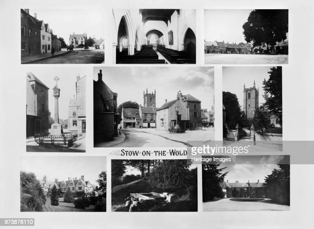 StowontheWold Gloucestershire 1890 A composite of nine views of the town with the market place and medieval cross at the centre All images were...