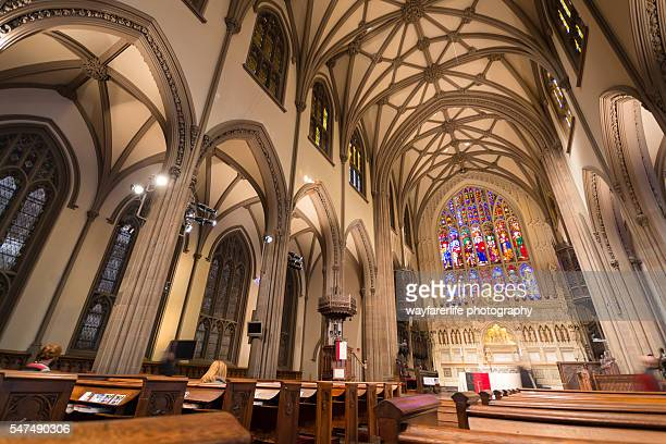 st.patrick's cathedral, manhattan, new york - st. patricks cathedral manhattan stock photos and pictures