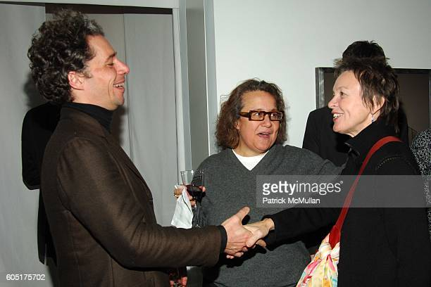 Stéphane Wargnier, Ingrid Sischy and Laurie Anderson attend Dinner Celebrating the Opening of LOU REED NEW YORK Photography Exhibition hosted by...