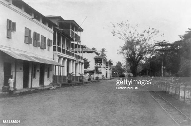 Straße in Tanga DeutschOstafrika
