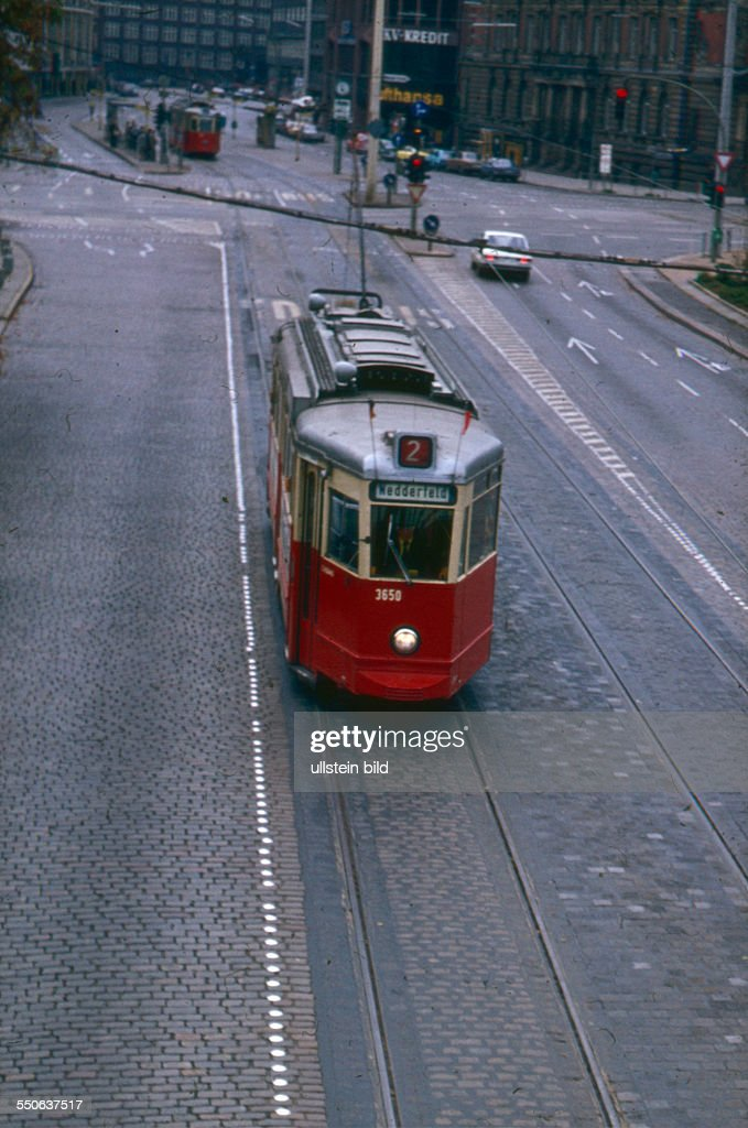 Straßenbahn Hamburg Linie 2 Mit Ziel Nedderfeld Sechziger Jahre