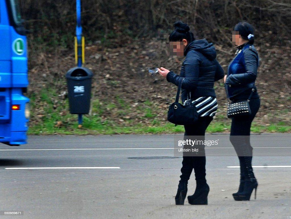 Straßenprostitution, Straßenstrich im Deutschmühlental in