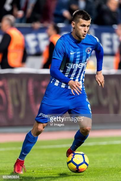 Strahil Venkov Popov of Kasimpasa AS during the Turkish Spor Toto Super Lig match between Kasimpasa AS and Antalyaspor AS at the Recep Tayyip...