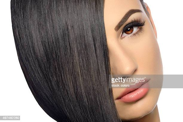 straight and healthy hair