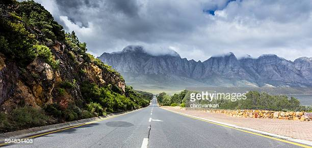 Straight empty road, Cape Town, South Africa
