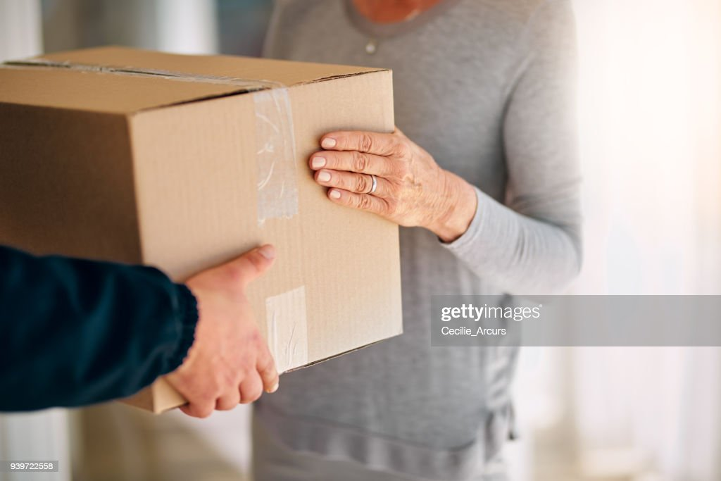 Straight from the warehouse, into your hands : Stock Photo