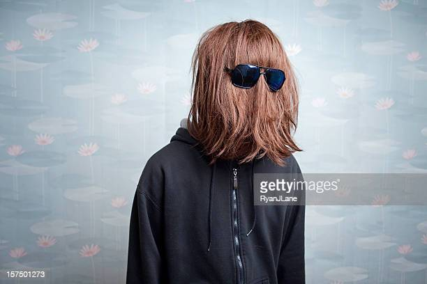 straight hair face - mask disguise stock pictures, royalty-free photos & images
