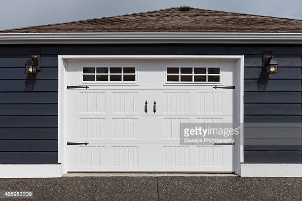 Straight on perspective of a remodeled garage