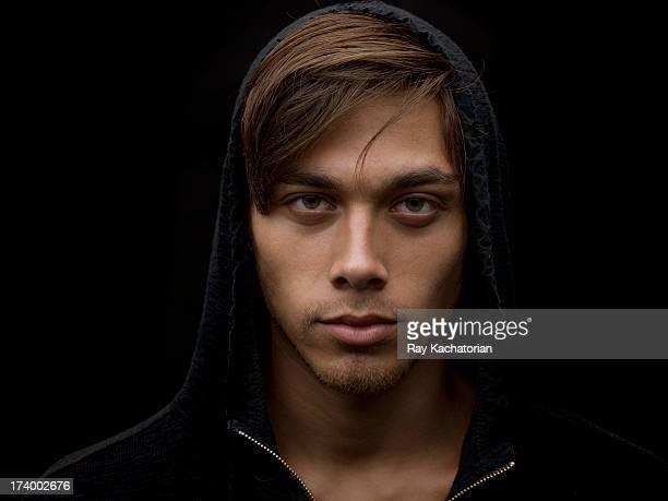 straight on portrait wearing hoodie