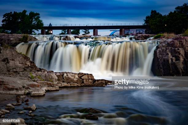 straight on sioux falls - south dakota stock photos and pictures