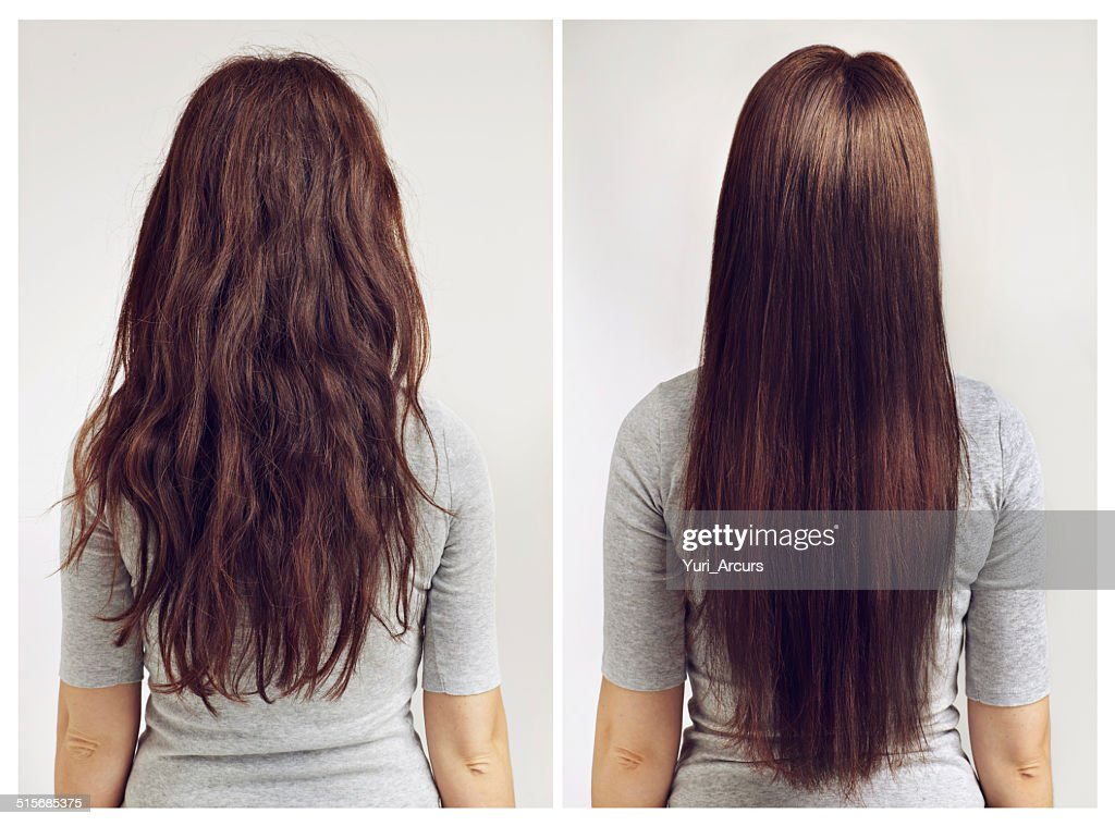 Straight or curly? : Stock Photo