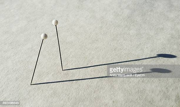 Straight Pins On Table