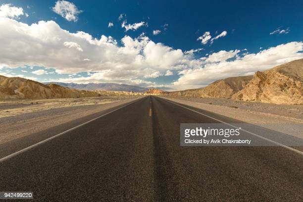 Straight Road Through Death Valley National Park