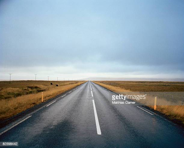 Straight road to the horizon with no traffic