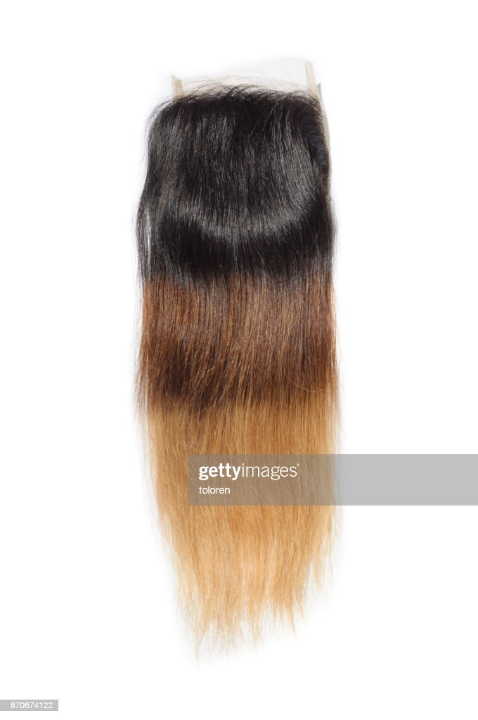 Straight Three Tone Ombre Style Black With Brown And Blonde Human