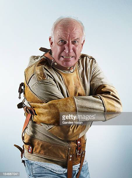 straightjacketanger - straight jacket stock pictures, royalty-free photos & images