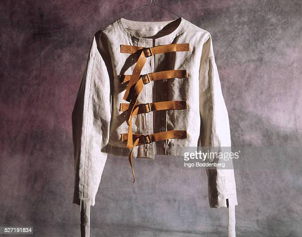 strait jacket - straight jacket stock pictures, royalty-free photos & images