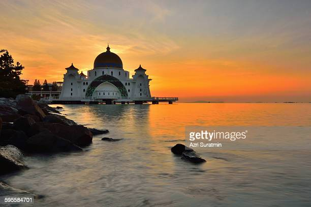 Strait Mosque, Malacca, Malaysia