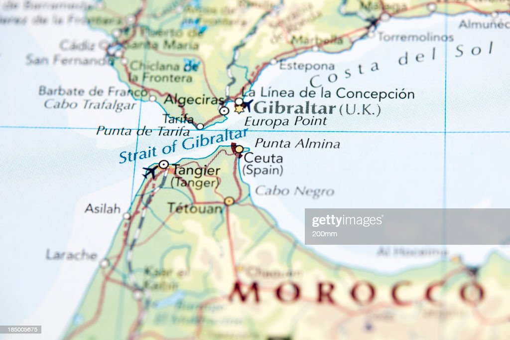 Strait Of Gibraltar Stock Photo Getty Images