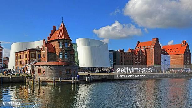Stralsund, harbour with Oceaneum