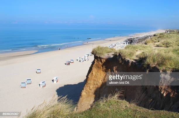 Strand bei Kampen Hochufer Urlaub auf der Nordsee Insel Insel Sylt im Herbst