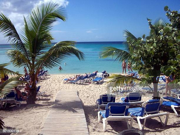 Strand HotelAnlage La Romana Dominikanische Republik Karibik Palme Liegestühle Reise BB CD PNr 068/2007