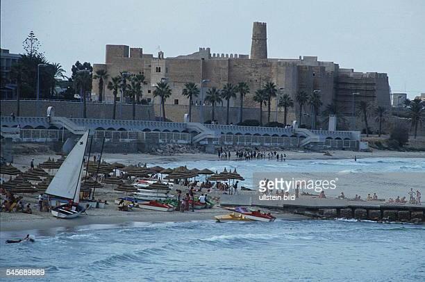 Strand und Kasbah in Monastir 1990
