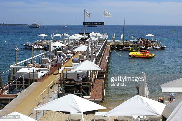 Strand von Cannes am Boulevard de la Croisette
