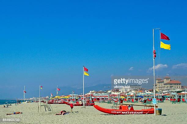 Strand von Viareggio Italien