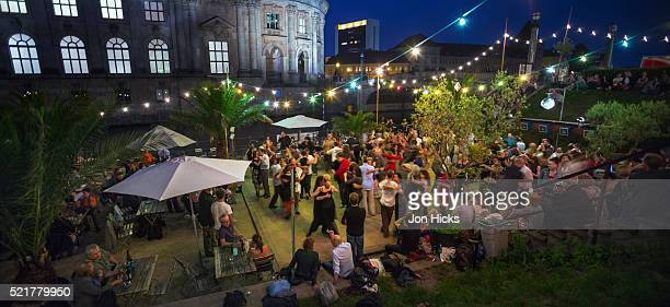 Strandbar-Mitte, a popular venue for drinking and dancing by the River Spree.
