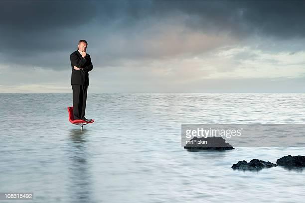 Homme d'affaires perdu