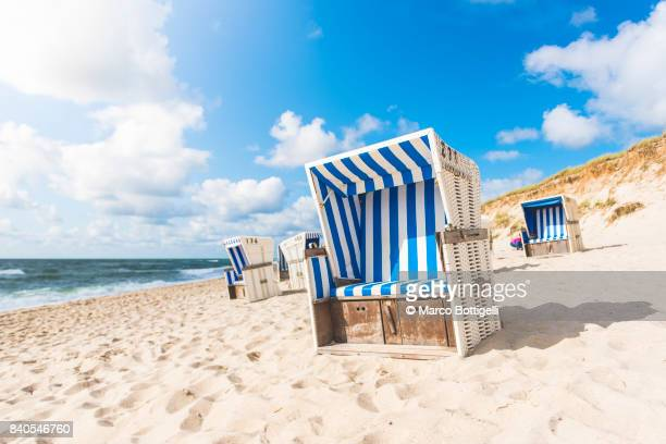 Strandkorb beach baskets. Sylt island, Germany.