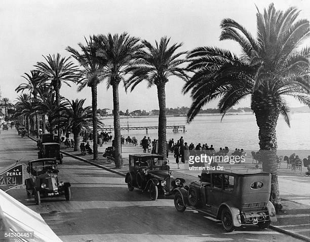 Strandpromenade in Cannes 1927