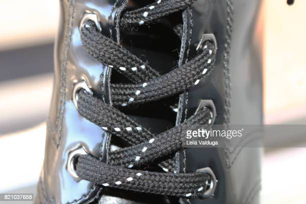 Strands strung in the barrel of a boot.