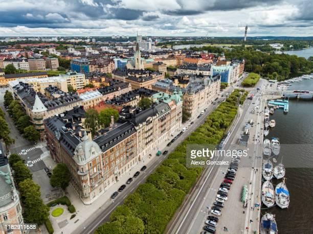 bulevar strandv-gen en estocolmo - stockholm fotografías e imágenes de stock