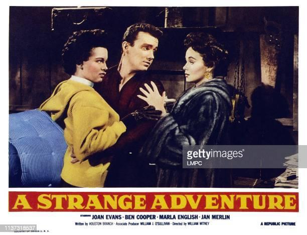 A Strange Adventure US lobbycard from left Joan Evans Ben Cooper Marla English 1956