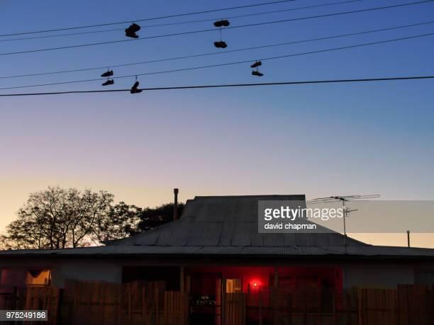 strange birds above the brothel - bordell bildbanksfoton och bilder