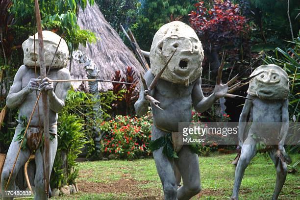 Strange Mudmen Tribe in Mt Hagen Papua New Guinea