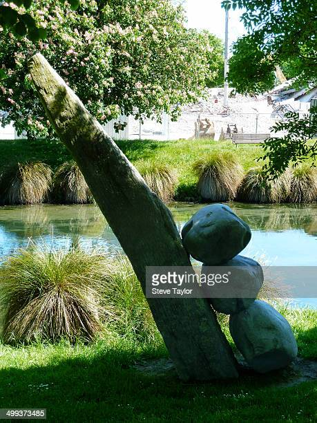 CONTENT] A strange sculpture on the banks of the Avon River in Christchurch