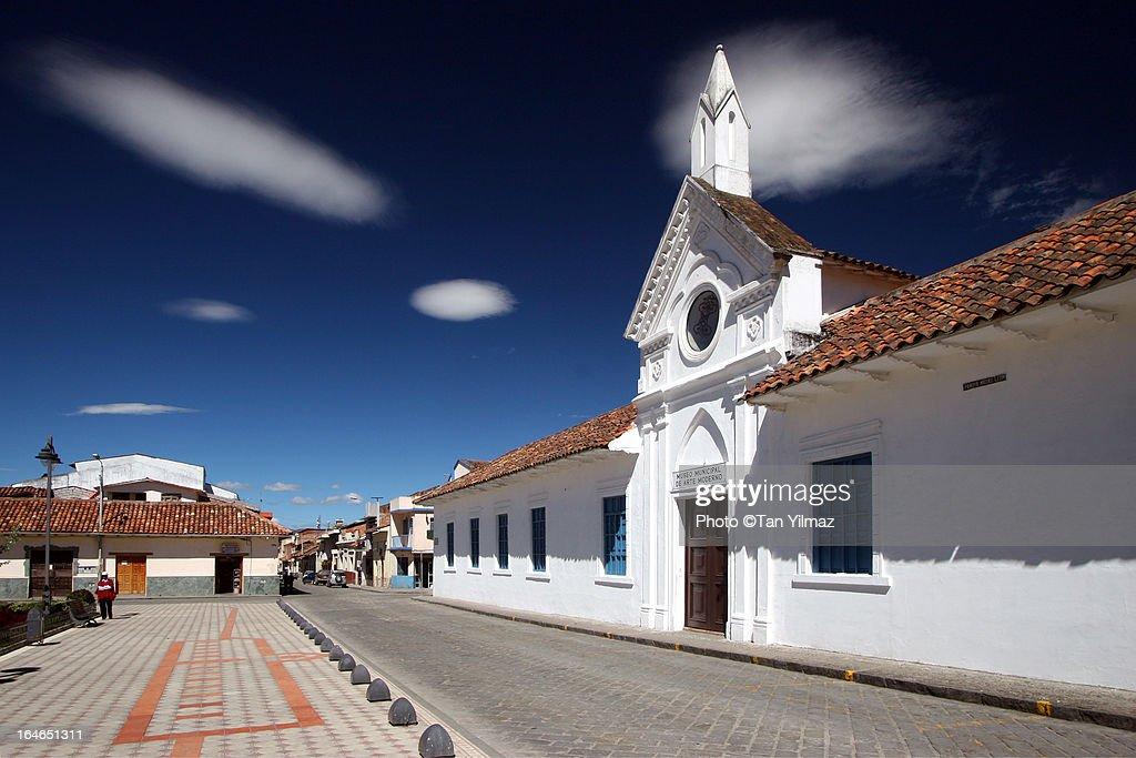 Strange sky over Cuenca : Stock Photo