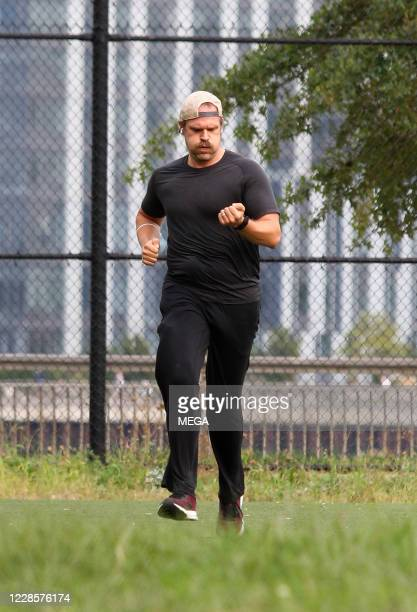 "Stranger Things"" star David Harbour seen working out on September 17, 2020 in New York City, New York."