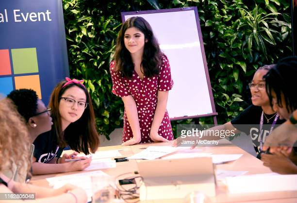 Stranger Things star Gabriella Pizzolo launches Camp Know Where Camps at flagship Microsoft Store on July 18 2019 in New York City