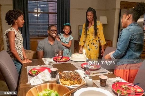 US Strangers Episode 401 Pictured Eris Baker as Tess Pearson Sterling K Brown as Randall Faithe Herman as Annie Pearson Susan Kelichi Watson as Beth...