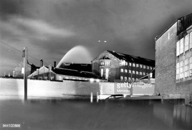 Strangeways Prison Riot 10th April 1990 Fire Crews Spray Roof A 25day prison riot and rooftop protest at Strangeways Prison in Manchester England The...